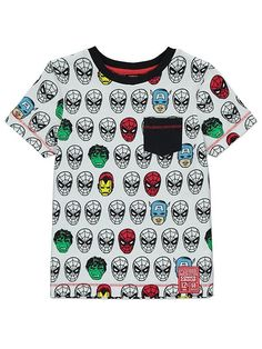 If your little Avengers fan likes Spider-Man the most, then they'll love this Marvel t-shirt. With an all-over print featuring Spider-Man, Hulk, Captain Amer. Marvel Avengers, Marvel Comics, Comic Clothes, Latest Fashion For Women, Hulk, The Ordinary, Spring Outfits, Iron Man, Christmas Sweaters