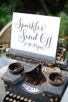 Sparkler Send-Off sign, photo by Alders Photography