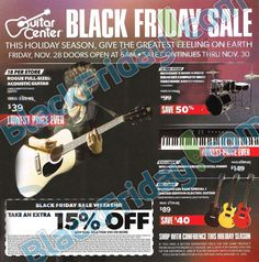 Guitar Center Black Friday 2014 Ad Page 1