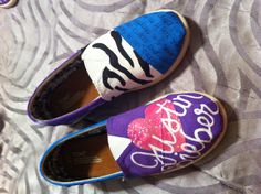 Custom painted <3 Justin Bieber Toms www.facebook.com/TaintedToms