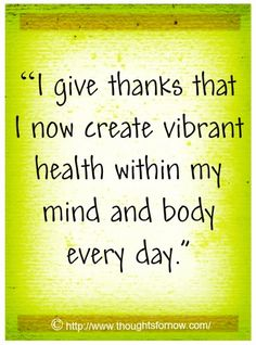 health affirmations | Affirmations for Health, Daily Affirmations