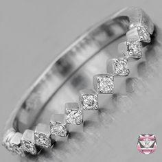 Art Deco Diamond Wedding Band - Special Order