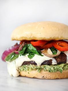 Portobello Mushroom Burger with Avocado Chimichurri