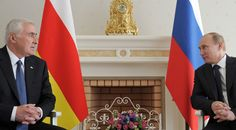 South Ossetia, former part of Georgia, to hold 'special' referendum to join Russia  http://pronewsonline.com  Archive: Russian President Vladimir Putin, right, at a meeting with President of South Ossetia Leonid Tibilov, 12 May 2012. © Alexei Druzhinin