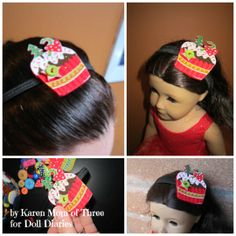 Use Phoomph for Fabric to Create A Holiday Hairband For Your Dolls or Any Special Occasion!