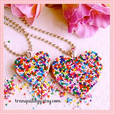Candy Sprinkle Necklace Sweetie Pie Real Sprinkles by tranquilityy