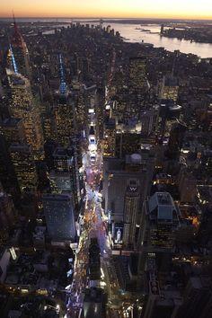 Broadway, la calle más larga de Nueva York, allí veremos Mamma Mia (si Dios quiere)... es lo que hay !