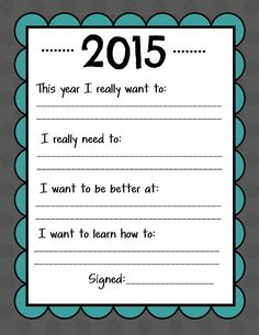 Source by Related posts: Free Printable: Family New Year Resolutions Printable New Year's Resolution Cards The Secret to Keeping New Year's Resolutions [With Free Printable] New Years Resolution : Happy New Year Resolutions New Years Resolution Kids, Resolution List, Family New Years Eve, New Years Activities, Literacy Activities, Therapy Activities, New Year Goals, New Year's Crafts, Year Resolutions