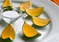 Tequila Lime Jello Shots. A Must For Cinco De Mayo.