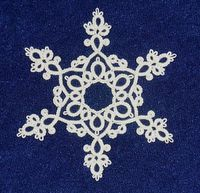 Beautiful tatted snowflake - i have some of these from my grandparents' house. I wonder how it would translate as ink...
