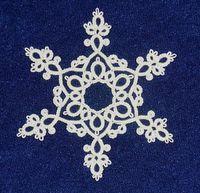 Beautiful tatted snowflake #tatted #tatting #tat #lace