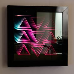 how to make an infinity art mirror Infinity Mirror Table, Infinity Spiegel, Infinite Mirror, Infinity Art, Bar Led, Lighting Concepts, Diy Mirror, Light Installation, Mirror With Lights