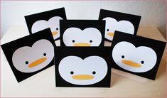 Penguin First Birthday :: black, white