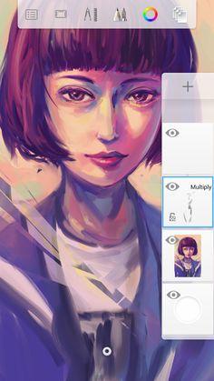 Sketchbook App, Autodesk Sketchbook Tutorial, Sketchbook Drawings, Digital Painting Tutorials, Digital Art Tutorial, Art Tutorials, Graphic Design Illustration, Digital Illustration, App Drawings