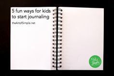 5 fun ways to start journaling for kids