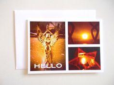 HELLO Greeting Card NEW ITEM (4.00 USD) by chromeCHARM