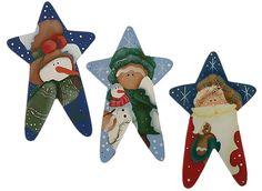 estrellas en madera, navidad, noel, gingerbread, snowman