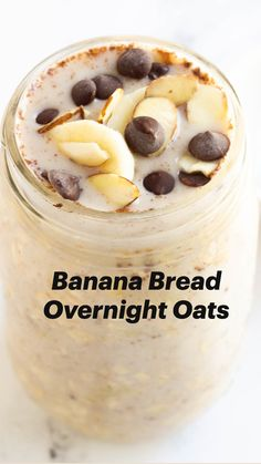 Healthy Sweets, Healthy Breakfast Recipes, Healthy Eating, Recipes With Bananas Healthy, Oatmeal Breakfast Recipes, Healthy Breakfast Meals, Healthy Banana Pudding, Healthy Desserts For Kids, Clean Eating Sweets
