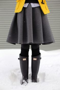Atlantic-Pacific: winter snow day ladylike fashion layering