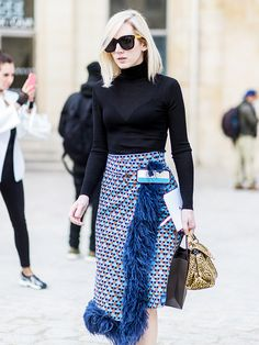 The Feminine Street Style Trend That's Taking Over via @WhoWhatWear