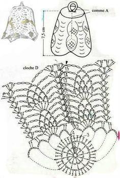Учимся вязать колокольчики на елку крючком + идеи вязаных колокольчиков | razpetelka.ru - Salvabrani Crochet Ball, Crochet Diy, Thread Crochet, Crochet Doilies, Crochet Flowers, Crochet Stitches, Crochet Christmas Ornaments, Christmas Crochet Patterns, Holiday Crochet