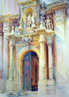 Alexander Creswell Watercolours San Sebastiano in Ferla as I have seen it over the years