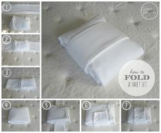 How to fold a sheet set. Duo Ventures: Organizing: The Linen Closet
