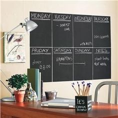 Peel and Stick Chalkboard Panels