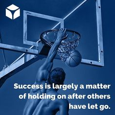 """""""Success is largely a matter of holding on after others have let go."""" -Unknown #quotes #quoteoftheday"""