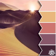 SUNSET TONES COLOR PALETTE   Pastel Feather Studio