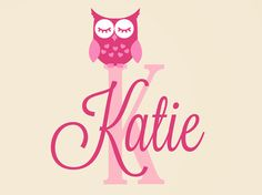 Owl Decal - Personalized Name Decal - Children Nursery Baby Girls