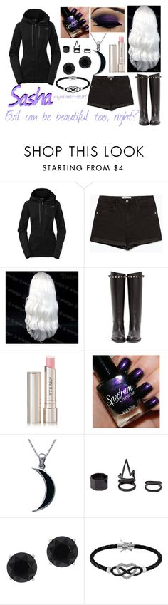 """""""Sasha-Minecraft Diaries"""" by mynameis-secret ❤ liked on Polyvore featuring The North Face, Zara, Valentino, By Terry, Carolina Glamour Collection, Charlotte Russe, Anne Klein, Jewel Exclusive, women's clothing and women"""