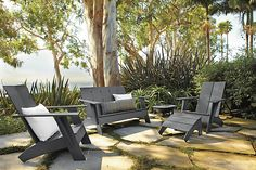 Image Set Outdoor Dining Set, Outdoor Lounge, Outdoor Rooms, Outdoor Chairs, Outdoor Living, Outdoor Decor, Adirondack Chairs, Outdoor Entertaining, Outdoor Projects