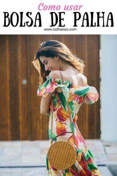 como usar bolsa de palha. look bolsa pequena. tendências verão 2018. tendência primavera verao 2018. moda verão 2018. bolsa redonda de palha.