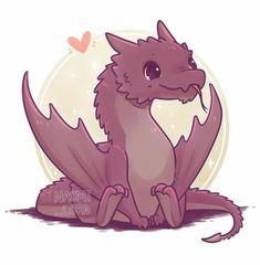 Have a smol Smaug Who shoul kawaii Cute Kawaii Animals, Cute Animal Drawings Kawaii, Cute Fantasy Creatures, Mythical Creatures Art, Arte Do Kawaii, Kawaii Art, Kawaii Chibi, Cute Dragon Drawing, Images Kawaii