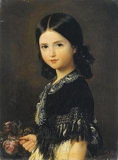 Ritratto di Beatrice Barba y Troyse , 1842 by Federico de Madrazo