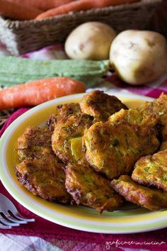 Frittelle di patate, zucchine e carote
