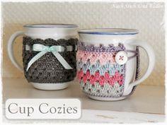 Neues Ebook: Cup Cozies - gehäkelte Tassenwärmer in 2 Varianten