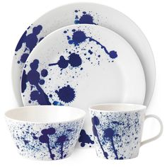 Royal Doulton Pacific Porcelain 4-Pc. Dinnerware Set White Splash