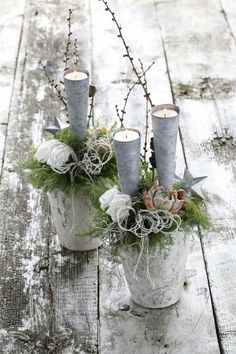 Rustic look candle decoration #lanterns and #candle #decoration