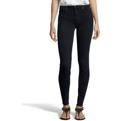 James Jeans London denim 'High Class' skinny jeans ($89) ❤ liked on Polyvore featuring jeans, london, high waisted denim skinny jeans, high-waisted skinny jeans, skinny leg jeans, high rise white skinny jeans and white skinny jeans