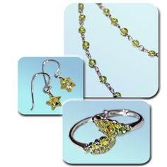 Gorgeous citrus colours, two of which are genuine peridot - £38 for all three items