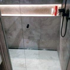 Top 50 Best Shower Lighting Ideas - Bathroom Illumination Bathroom Niche, Shower Niche, Bathroom Layout, Modern Bathroom, Small Bathroom, Master Bathroom, Master Baths, Downstairs Bathroom, Bathroom Ideas