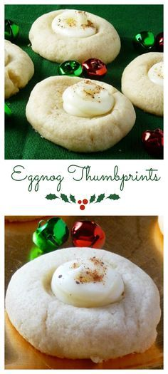 Eggnog Thumbprints | Grumpyshoneybunch.com