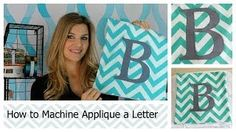 machine sewing applique - YouTube