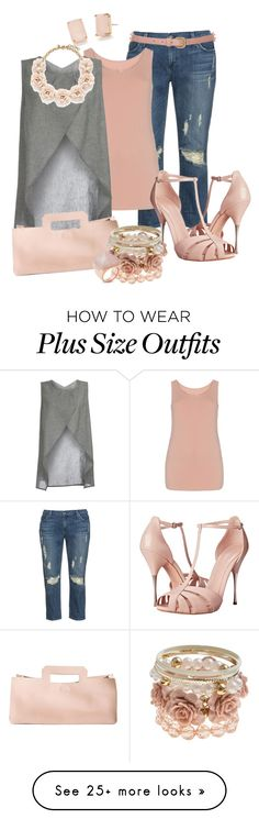 """Plus Sized DIVA"" by hope-houston on Polyvore featuring James Jeans, Isolde Roth, Kate Spade, Alexander McQueen, Meckela, Topshop, J.Crew and Michael Kors"