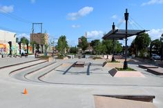 Skate Park, Sidewalk, Exterior, Patio, Urban, City, Outdoor Decor, Side Walkway, Walkway