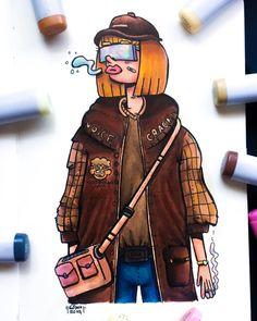 gawx art charecters - Búsqueda de Google Cute Doodle Art, Doodle Art Designs, Doodle Art Drawing, Doodle Ideas, Graffiti Doodles, Graffiti Cartoons, Girl Drawing Images, Vexx Art, Doddle Art