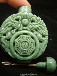 4.5cm Chinese Natural Black Dark Green Jade Carved Dragon Jade Round Pendant