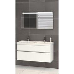 Op zoek naar een Bruynzeel Nano meubelset 120cm met dubbele wastafel en spiegel wit? Bestel deze en andere Bruynzeel Nano producten voordelig online bij Sanitairwinkel.nl